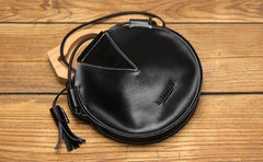 Cute LEATHER WOMEN SHOULDER Circle BAG Crossbody Round Purses FOR WOMEN