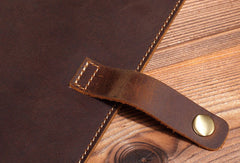 Handmade Genuine Leather Wallet Long Leather Wallet Bifold Wallet Bag For Mens