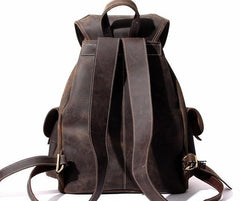 Cool Leather Mens Backpacks Travel Backpack Leather School Backpack for Men
