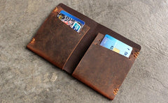 Vintage LEATHER Womens Small Wallet Bifold Leather Short Wallet FOR Women