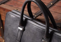Vintage Cool leather mens Briefcase Business Briefcase laptop Briefcases for Men