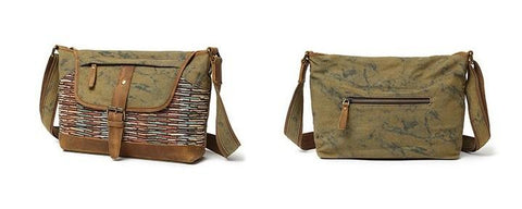 Mens Canvas Rustic Side Bag Messenger Bag Camera Courier Bag Shoulder Bag for Men