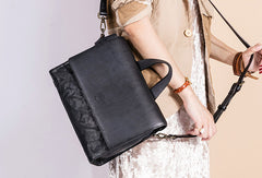 Handmade Handbag Briefcase Purse Leather Crossbody Bag Purse Shoulder Bag for Women