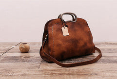 Handmade Vintage Leather Women Handbag Shoulder Bag Purse for Women