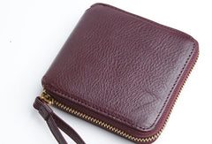 Genuine Leather Cute Short Slim Cube Wallet Card Holder Wallet Purse For Women Girl
