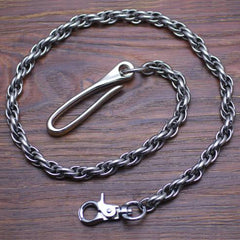 Cool Men's Handmade Stainless Steel Long Biker Wallet Chain Pants Chain Wallet Chain For Men