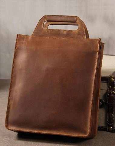 Cool Leather Vintage Mens Brown Coffee Handbag Shoulder Bag for Men