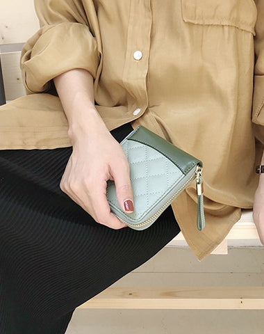 Cute Stylish Leather Womens Small Wallet for Women billfold Wallets