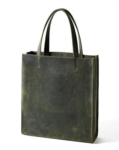 Handmade Leather Mens Tote Bag Cool Tote Bag Handbag Shoulder Bag for men