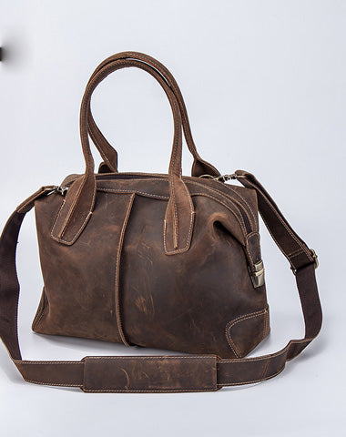 Vintage Leather Handbag for men Travel Bag Shoulder Bag Messenger Bag for men