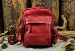 Handmade Leather backpack bag small purse for women leather shoulder bag