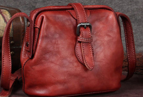 Vintage Leather Doctor Crossbody Bag Shoulder Bag Purse For Women