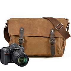 Mens Canvas Camera Messenger Bag Camera Side Bag Camera Shoulder Bag for Men