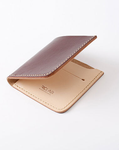 Handmade Leather Slim Coffee Red Womens Mens Bifold Small Wallet billfold Wallets for Men