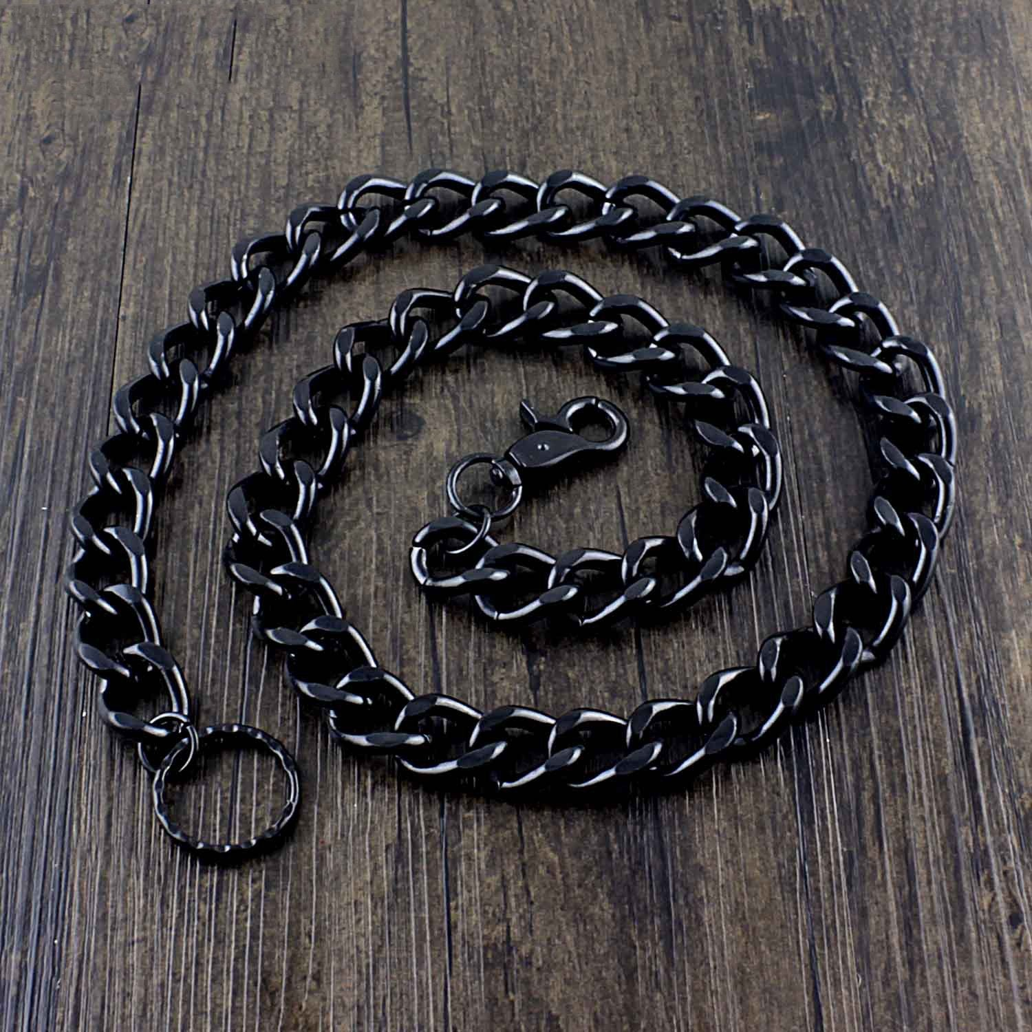 Cool Black Punk Pants Chain Biker Wallet Chain Black Jean Chain Long Wallet Chain For Men