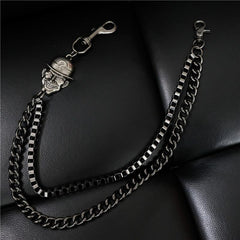 Badass Men's Black Wallet Chain Pants Chain Long Biker Wallet Chain For Men