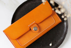 Handmade Genuine leather long wallet clutch wallet purse checkbook wallet women