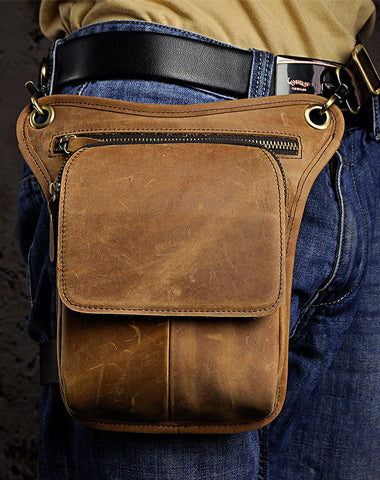 Leather Belt Pouch for Men Leg Drop Bag BELT BAG Shoulder Bag For Men