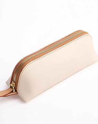 Cute Leather Womens Zipper Makeup Purse Clutch Glasses Case Makeup Holder for Women