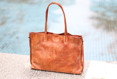 Handmade Leather Handbags Tote Bag Shopper Bag Shoulder Bag Purse For Women