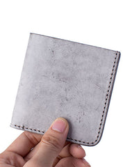 Handmade Cute Slim Leather Womens Bifold Small Wallets Short Wallet for Women