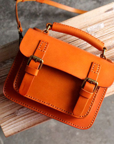 Vintage LEATHER WOMEN School SHOULDER BAG Satchel Bag Crossbody Purse FOR WOMEN
