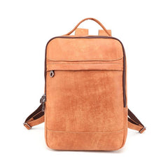 Cool Leather Mens 13inch Computer Backpack School Backpack Travel Backpack for Men