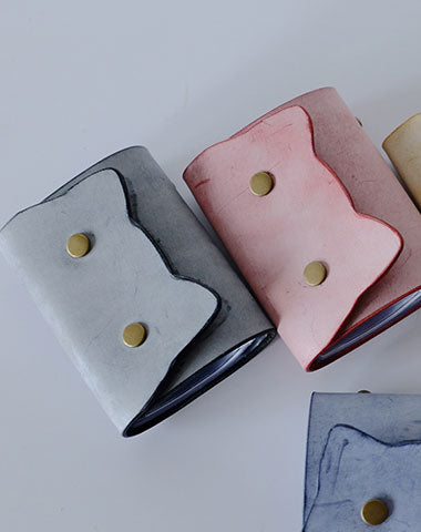 Cute Cat LEATHER Womens Small Card Wallet Leather Card Small Wallet FOR Women