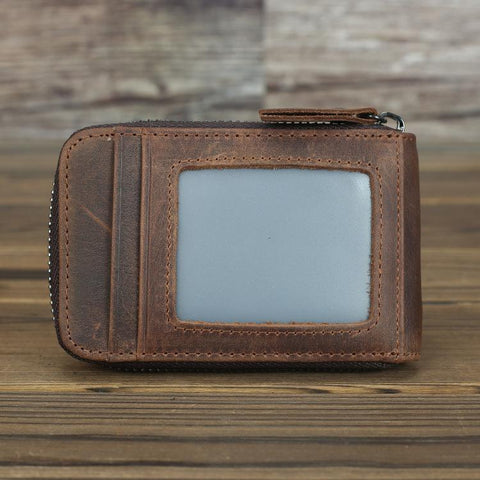 Cool Brown Leather Men's Multi-Card Wallet Coin Wallet Card Wallet For Men