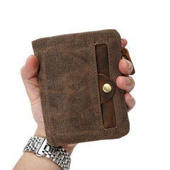 Mens Canvas Small Wallets for men Bifold Cool Men billfold Small Wallet
