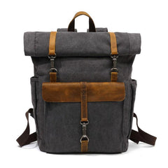 Cool Canvas Mens Travel Backpack Canvas School Backpack Laptop Backpack for Men