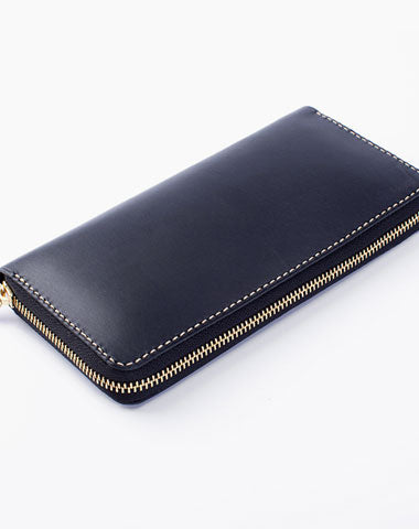 Black Coffee Womens Leather Zipper Long Wallet Phone Long Clutch Wallet for Women