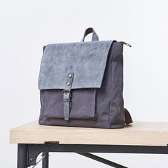 Cool Mens Canvas Backpack Canvas Travel Bag Canvas School Bag for Men