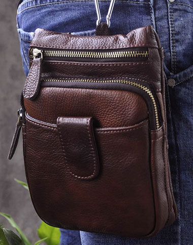 Vintage Leather Belt Pouch for Men Waist Bag BELT BAG Shoulder Bag For Men