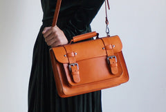 Handmade Leather Messenger Bag Satchel Bag Crossbody Bag Shoulder Bag Purse for Women Leather Bag