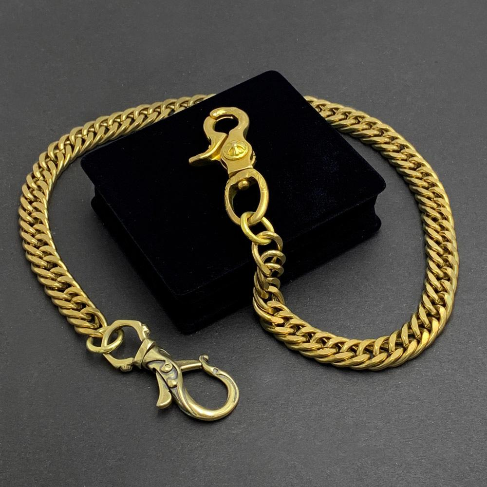 "Fashion Handmade Vintage Brass 19"" Mens Pants Chain Wallet Chain Motorcycle Wallet Chain for Men"