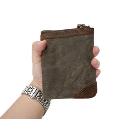 Mens Canvas Small Wallet for men Bifold Cool Men Short Small Wallet