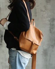 Vintage LEATHER WOMEN Backpack School Backpacks Travel Backpack FOR WOMEN