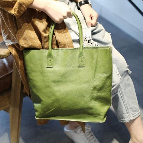 Green Womens Shopper Bag Tote Bag Purse Leather Tote Purse - Annie Jewel