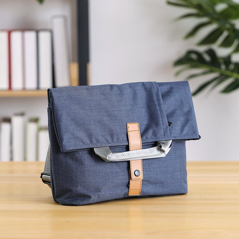 Oxford fabric Mens Side Bag Blue Handbag Tote Bag Messenger Bag Tote For Men