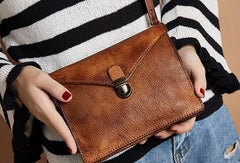 Genuine Handmade Vintage Leather Crossbody Bag Shoulder Bag Women Leather Purse