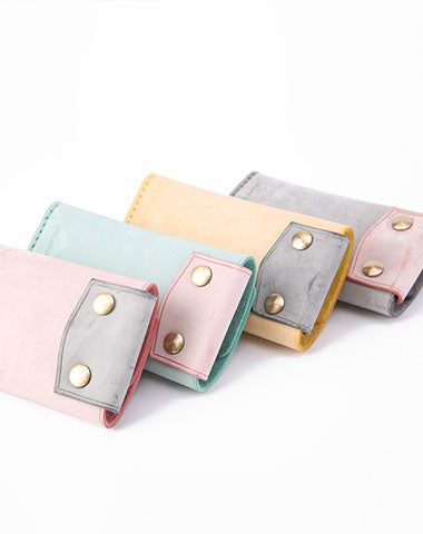 Handmade Cute LEATHER Womens Small Card Key Wallet Leather Key Wallet FOR Women