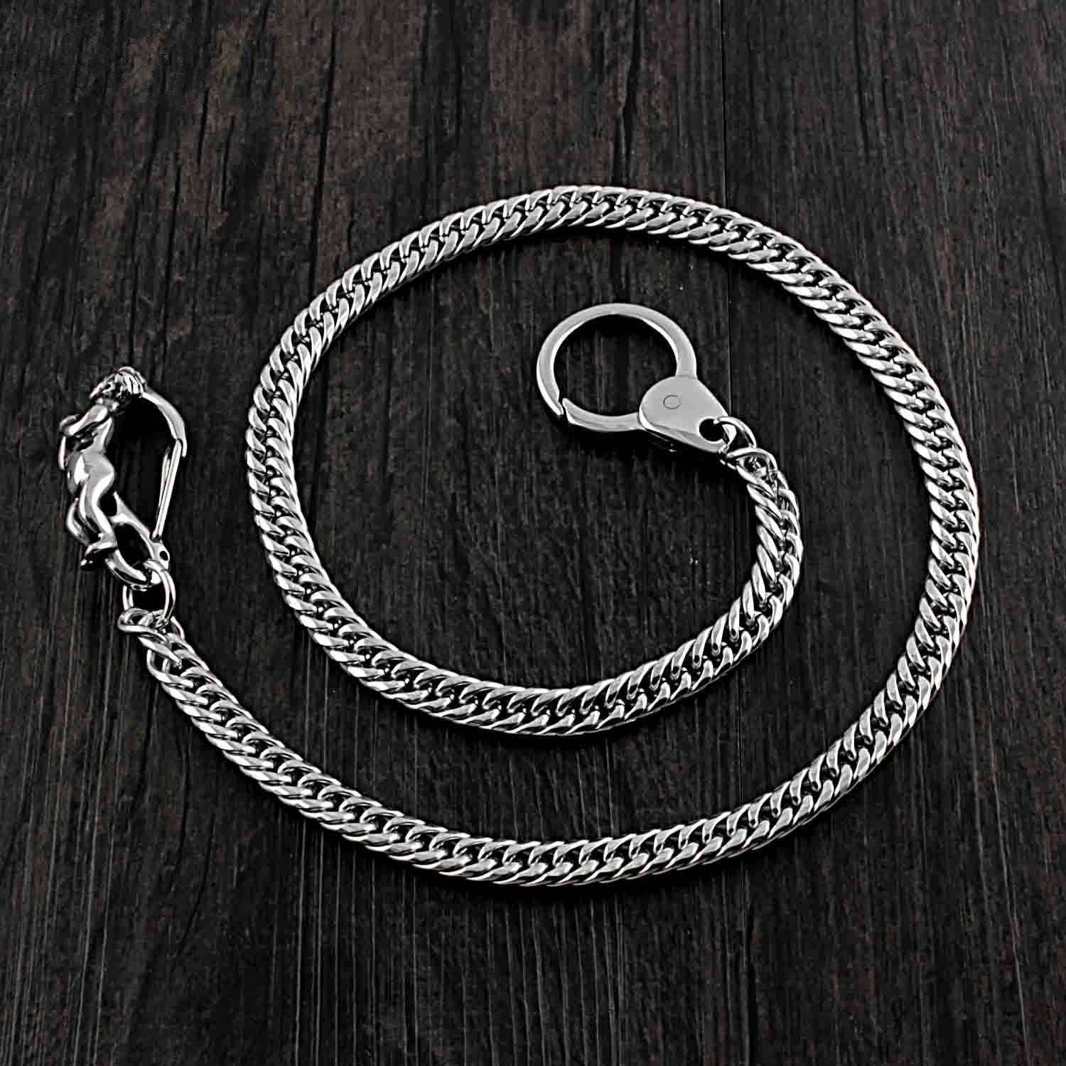 SOLID STAINLESS STEEL BIKER Cool WALLET CHAIN LONG PANTS CHAIN jeans chain jean chain FOR MEN