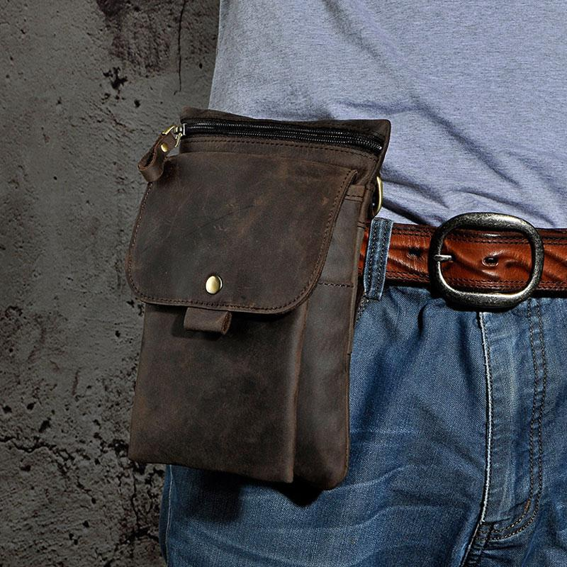c514d4b1302d Previous. Next.  69.00 69.00. Overview  Design  Mens Leather Small Side Bag  COURIER BAG Waist Bag Holster Belt Case ...