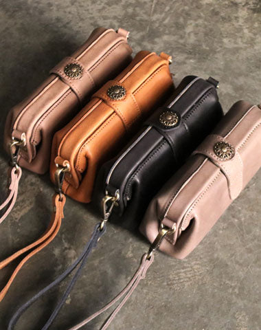 Vintage LEATHER Womens Wristlet Bag Doctor Long Wallet Mini Shoulder Bag FOR Women
