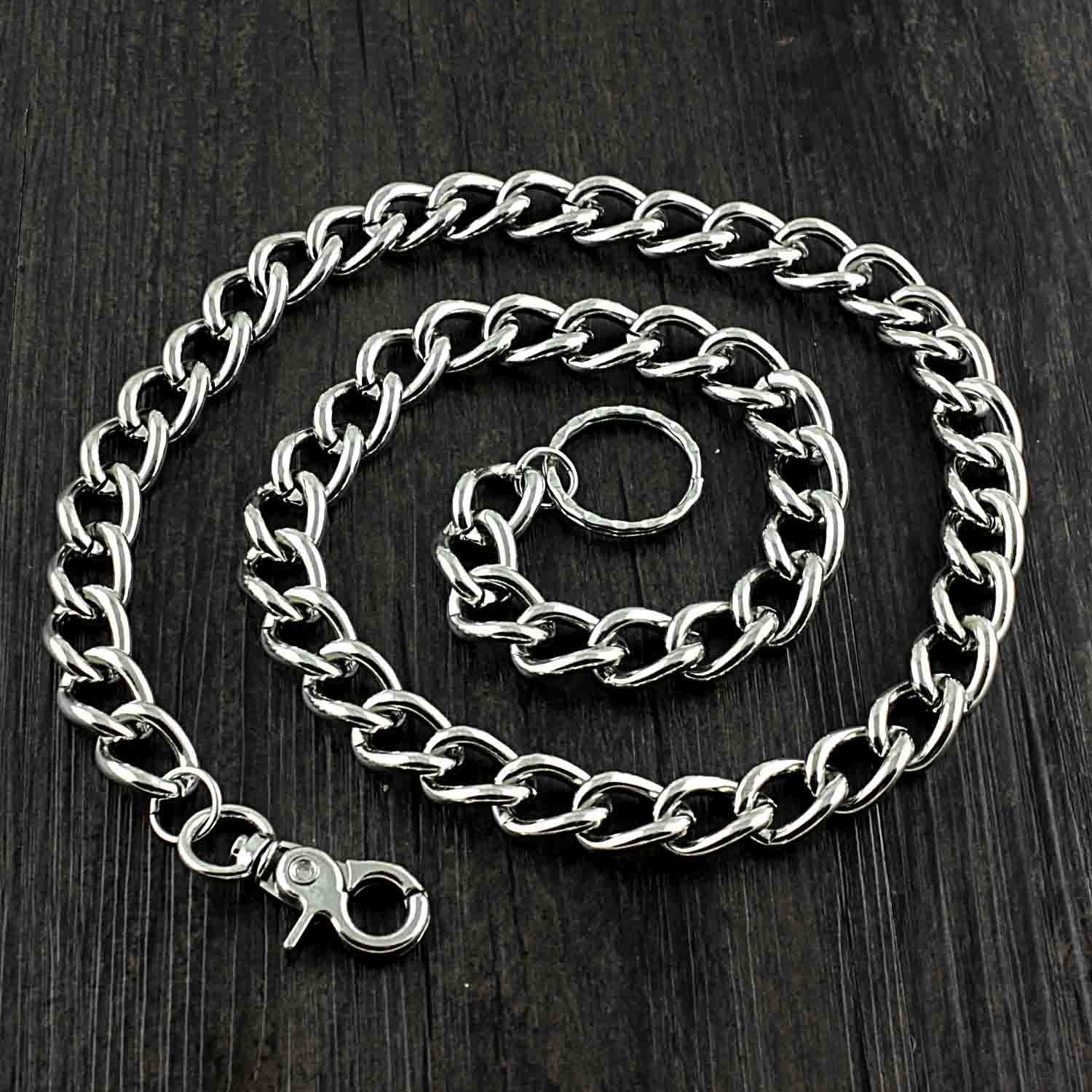 SOLID STAINLESS STEEL BIKER SILVER WALLET CHAINs LONG PANTS CHAIN JEAN CHAIN FOR MEN