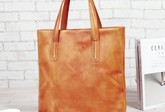 Handmade Leather handbag shoulder bag large tote for women leather shopper bag