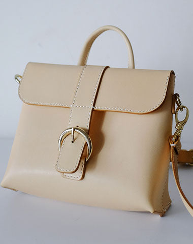 Fashion Leather Beige Womens Handbag Shoulder Bag Crossbody Purse for Women