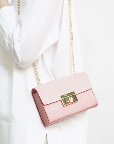 Cute Leather Womens Fashion Small Chain Shoulder Purse Chain Crossbody Bag for Women