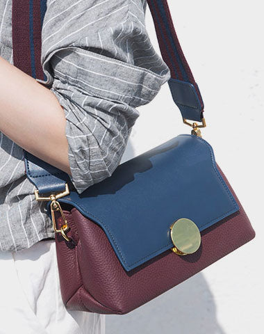 Stylish Leather Womens Cute Small Shoulder Bag Crossbody Purse for Women